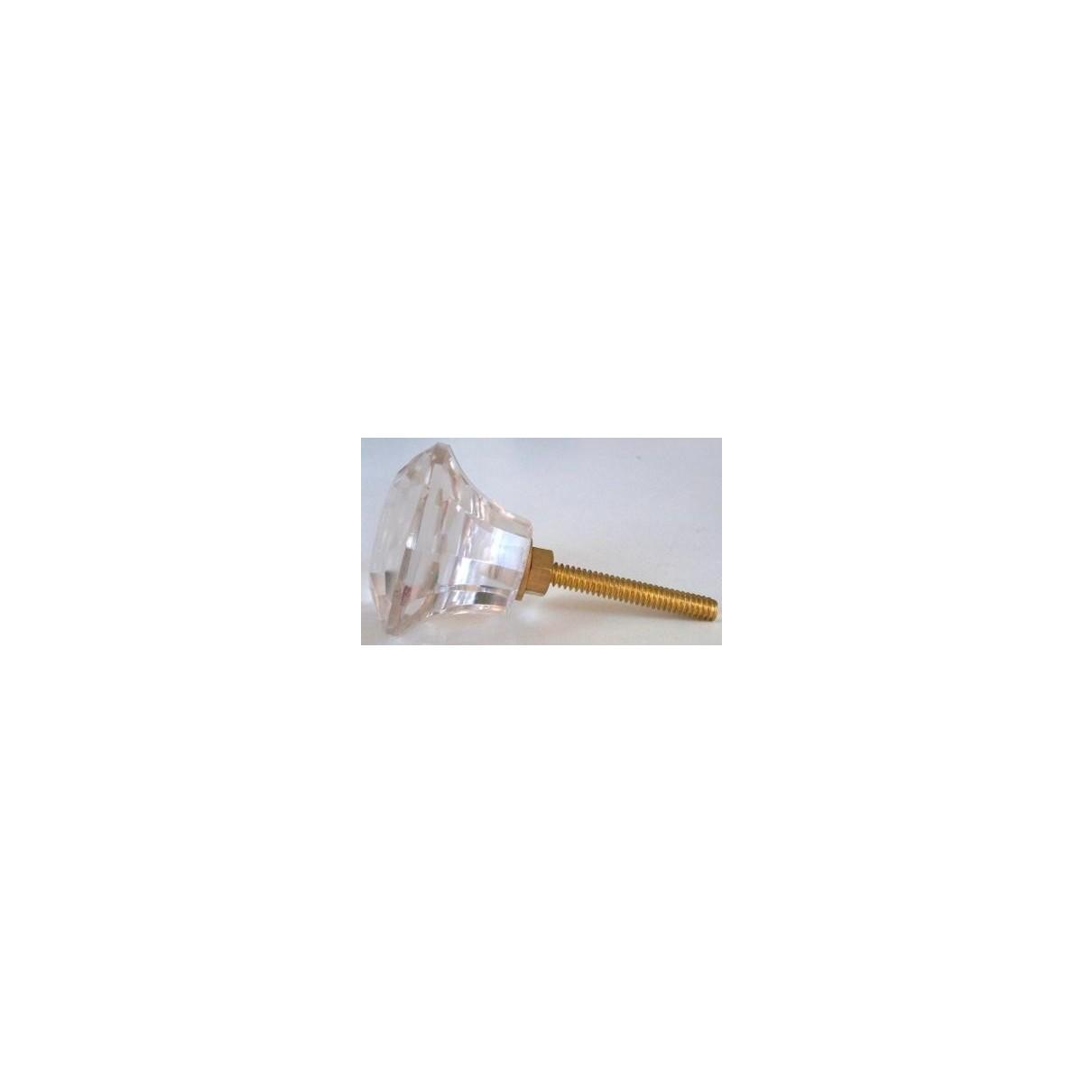 Bouton de meuble cabochon verre transparent boh me 3 90 gl1 - Bouton de meuble en verre ...