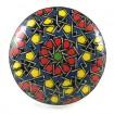 Bouton de Meuble Mandala Rouge et Bleu