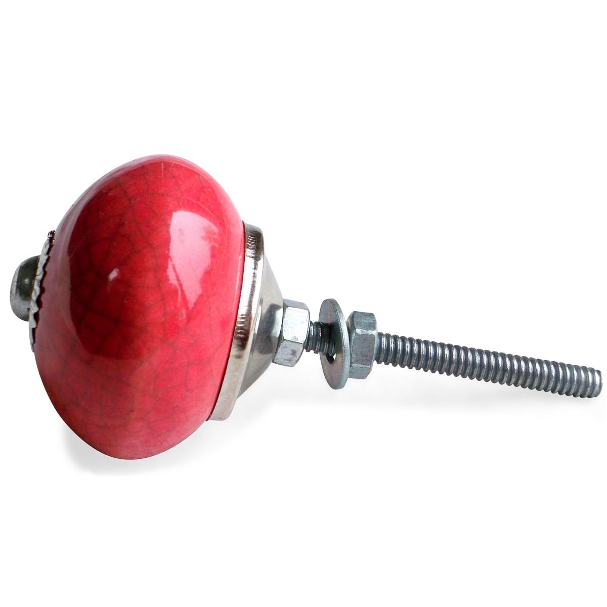 bouton de meuble craquel rouge vintage. Black Bedroom Furniture Sets. Home Design Ideas