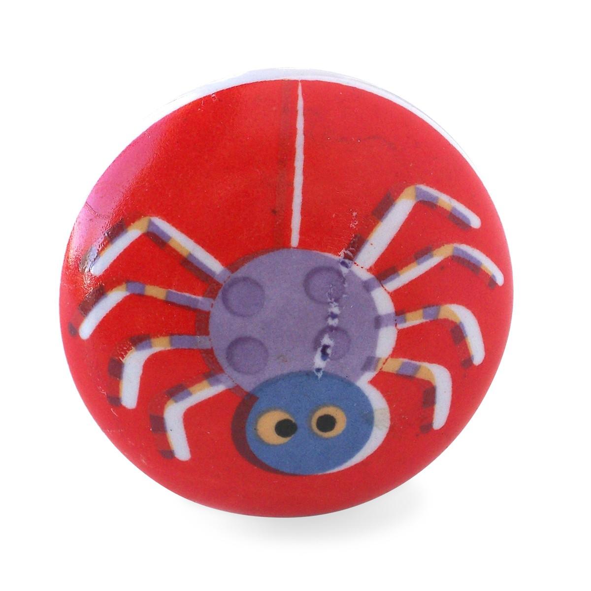 bouton de meuble araign e rouge chambre d enfant 2 90 be8. Black Bedroom Furniture Sets. Home Design Ideas