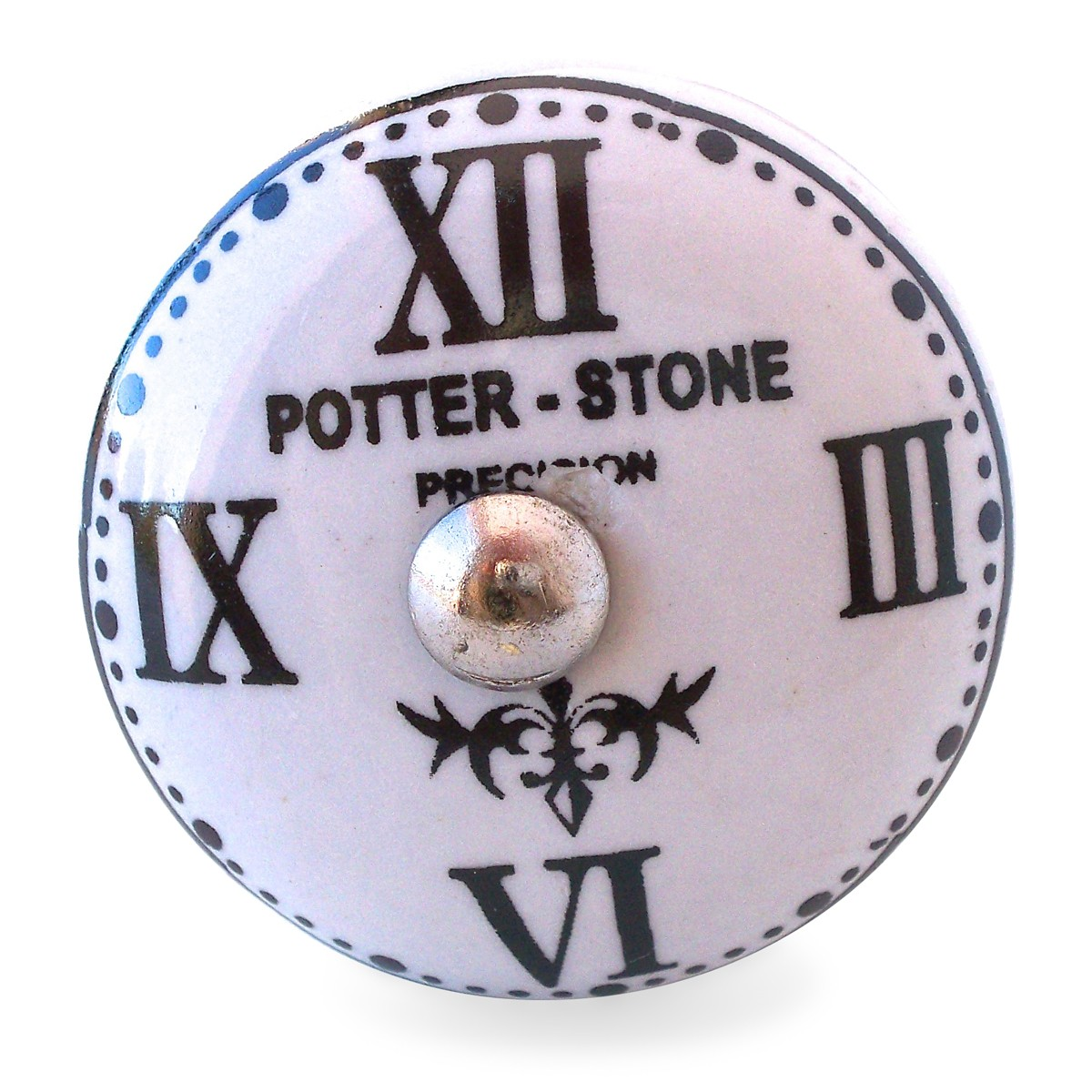 bouton de meuble horloge potter stone industriel. Black Bedroom Furniture Sets. Home Design Ideas