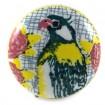 Bouton de Meuble Craquelé Perroquet