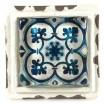 Blue Cement Tile Knob