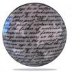 Bouton de Meuble Ecritures Gris