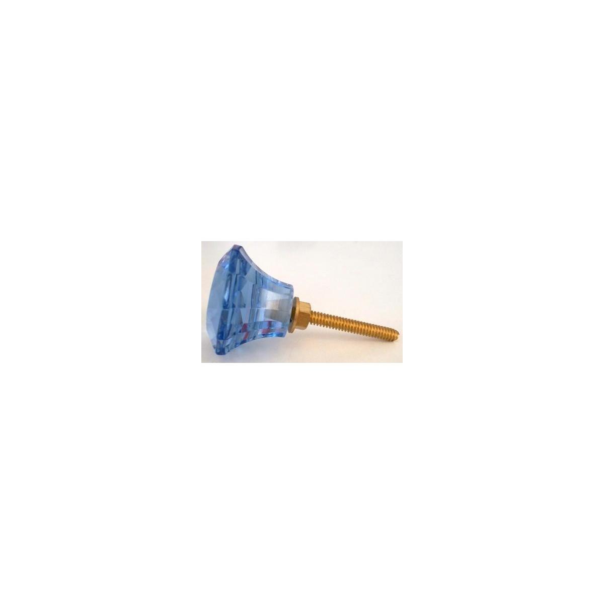 Bouton de meuble cabochon verre bleu bord de mer 3 90 gl2 - Meuble bord de mer ...