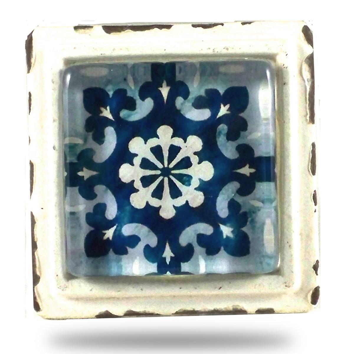 Salle De Bain Discac Loft ~ Bouton De Meuble Carr Azulejo Boh Me 7 90 Ss26