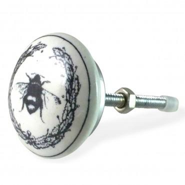 bouton de meuble couronne et bourdon vintage. Black Bedroom Furniture Sets. Home Design Ideas