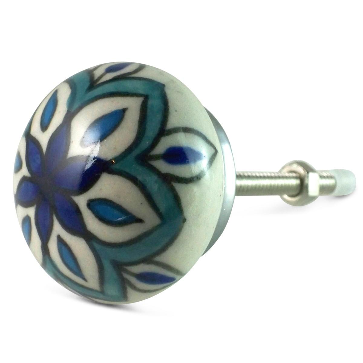 Diy Bouton De Meuble bouton de meuble sherazade bleu et turquoise carreau ciment