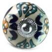 Bouton de Meuble Trident Turquoise et Jaune