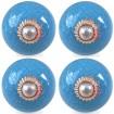 lot de 4 boutons de meuble craquelé bleu