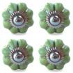 Set of 4 Plain Spring Green Pumpkin Knobs