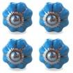 Lot de 4 Boutons de Meuble Uni Bleu Clair