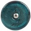 Glass Turquoise Knob