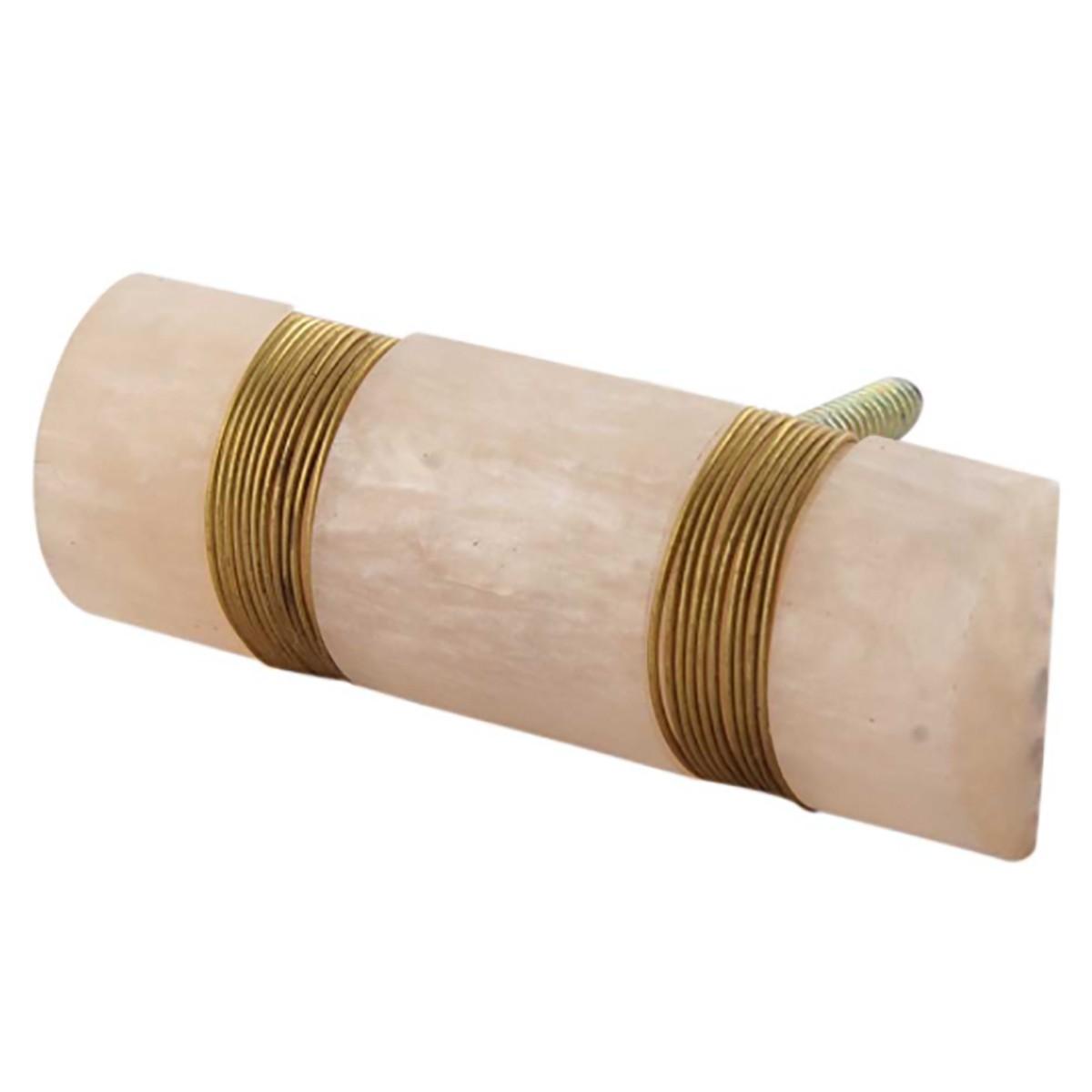 Bouton De Meuble Tube En Resine Et Cuivre Scandinave