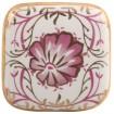 Bouton de Meuble en Porcelaine Pivoine
