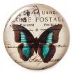 Bouton Papillon Carte Postale